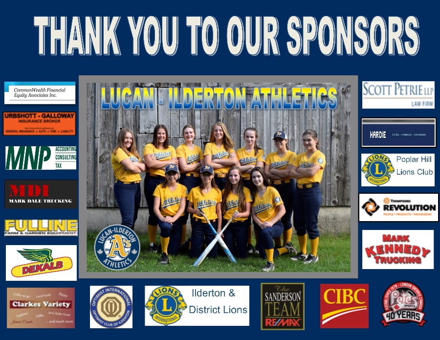 The Novice Girls would like to Thank the following organizations for all their support...